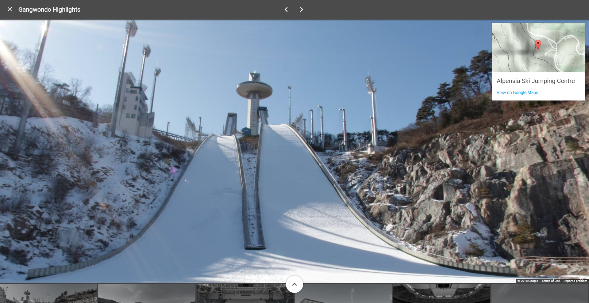 Check out the 2018 Winter Olympics on Google Street View